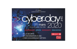 Logo Cyberday Ecole de Guerre Economique / AEGE / Veille Mag / Freani / Cybersecurity conference