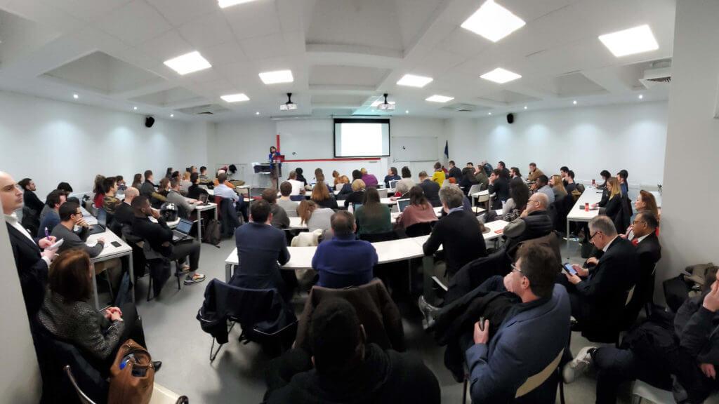Photo cybersecurity conference Ecole de Guerre Economique / Club Cyber AEGE / Anne Souvira Freani