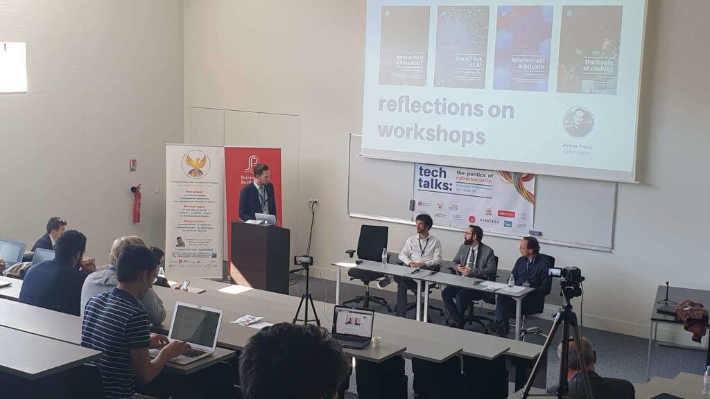 Photo conference Bordeaux Institute of Cybersecurity Studies (BIICS) / Ecole de Guerre Economique / Club Cyber AEGE Freani